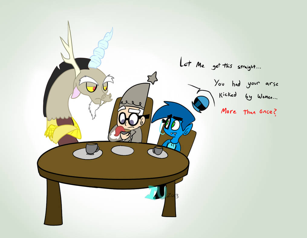 Tea Party With Discord by MochiFries on DeviantArt