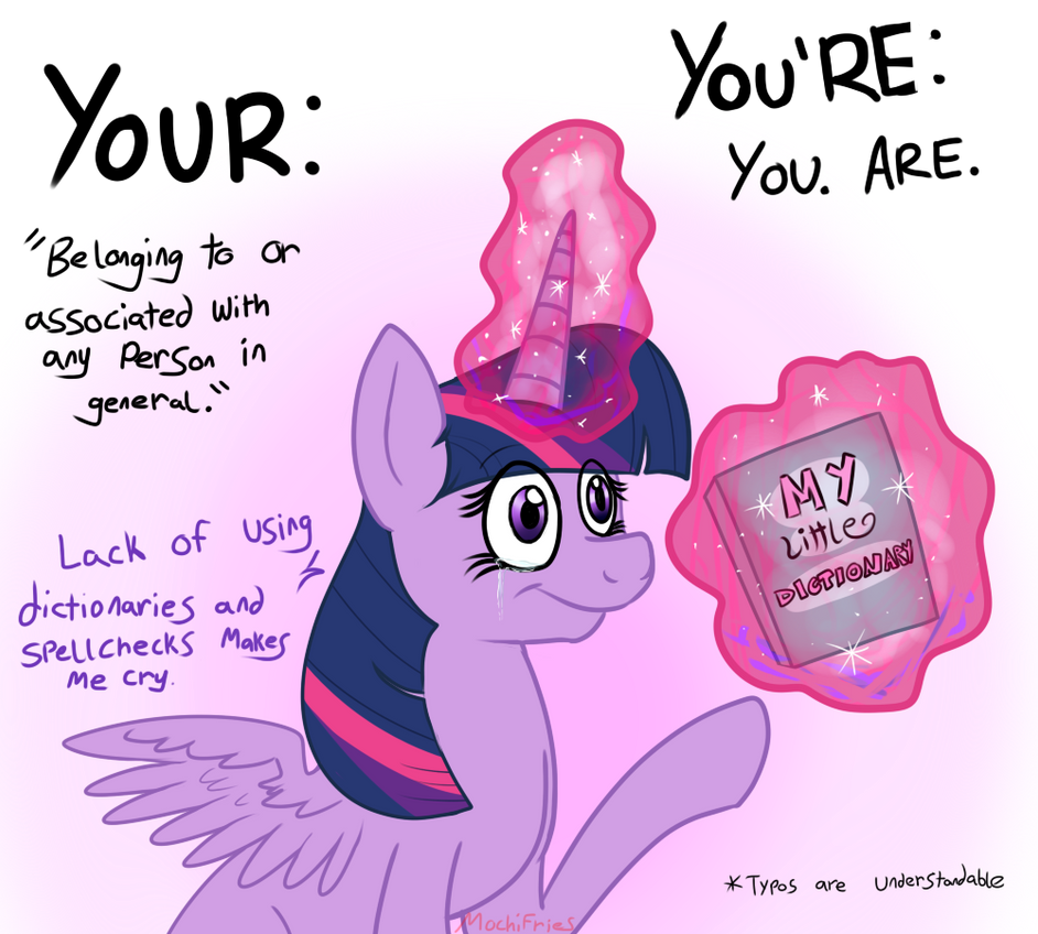 Learning With Twilight: Your and You're by MochiFries