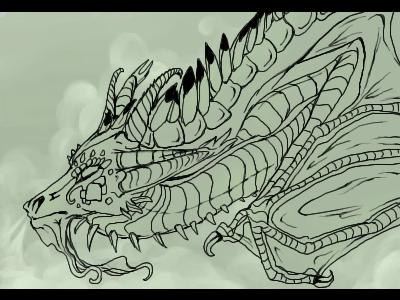 Line Art Dragon : Dragon finished lineart by l i m e on deviantart