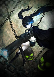 BLACK ROCK SHOOTER by pumpernichol