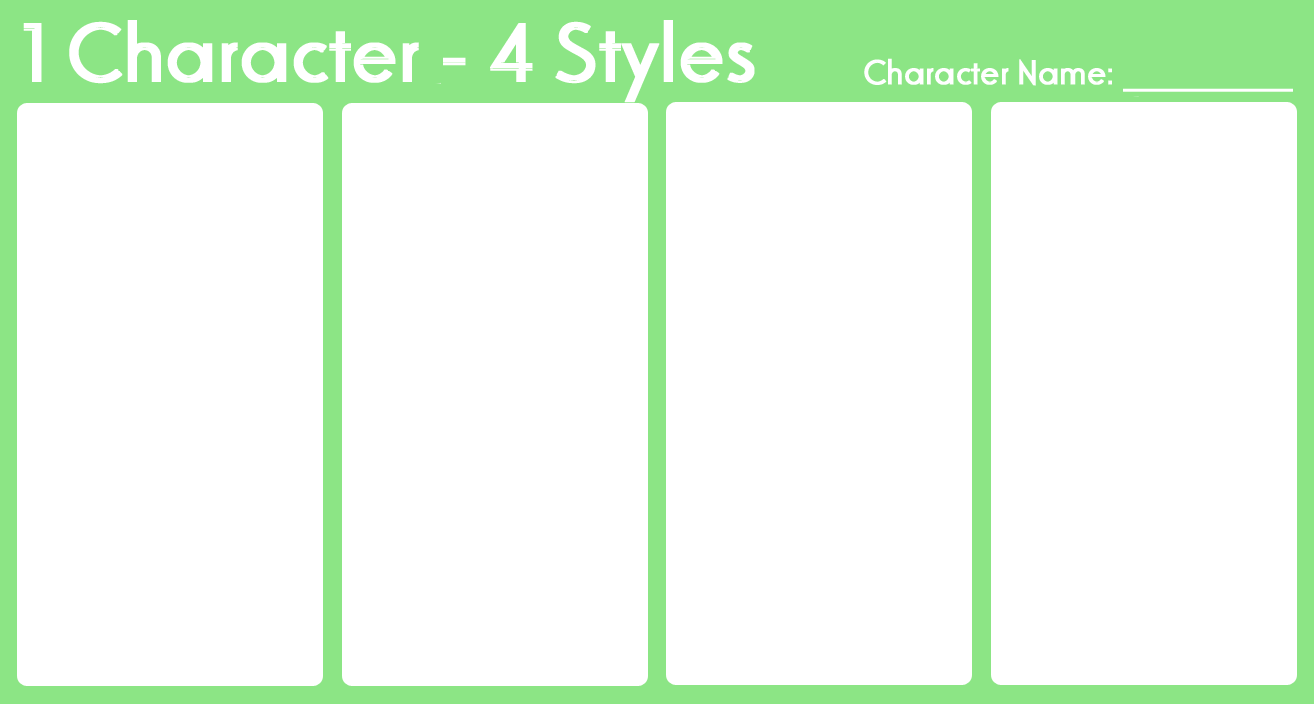 1 Character - 4 Styles Meme by just-memes