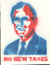 George H.W. Bush Stencil by Salen248