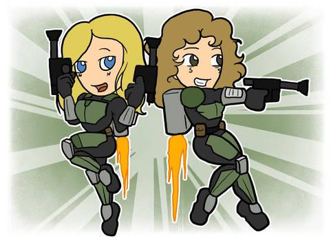 Ellie and Juniper Vs the World w/ Jetpacks