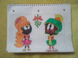 Looney Tunes: Martian Kisses Under The Mistletoe! by SamanthaBaez21