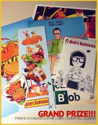 BOB'S BURGERS COMIC GIVEAWAY!!!!!