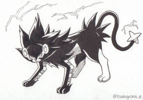 Poketober 2020 Day 4 - Electric type - Luxray by Celia-D