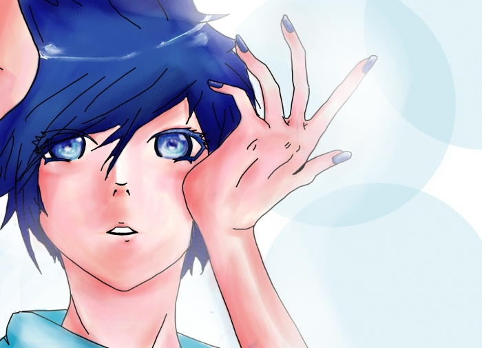 Kaito Butterfly on your... by Mishii-C