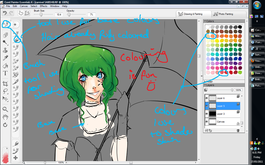 My colouring WIP by Mishii-C