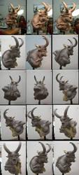 Pegaso Demon Bust 5 by m5m5c5