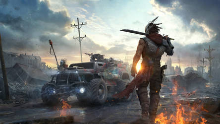 Title promo art for Crossout game