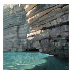 Cliffs and water