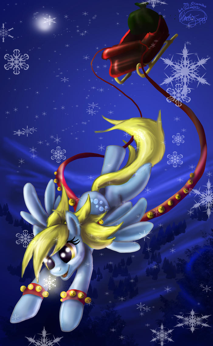 Derpy Hooves as : Rudolph the....Pegasus... by Called1-for-Jesus