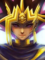 Pharaoh Atem by xiaofanchuanart