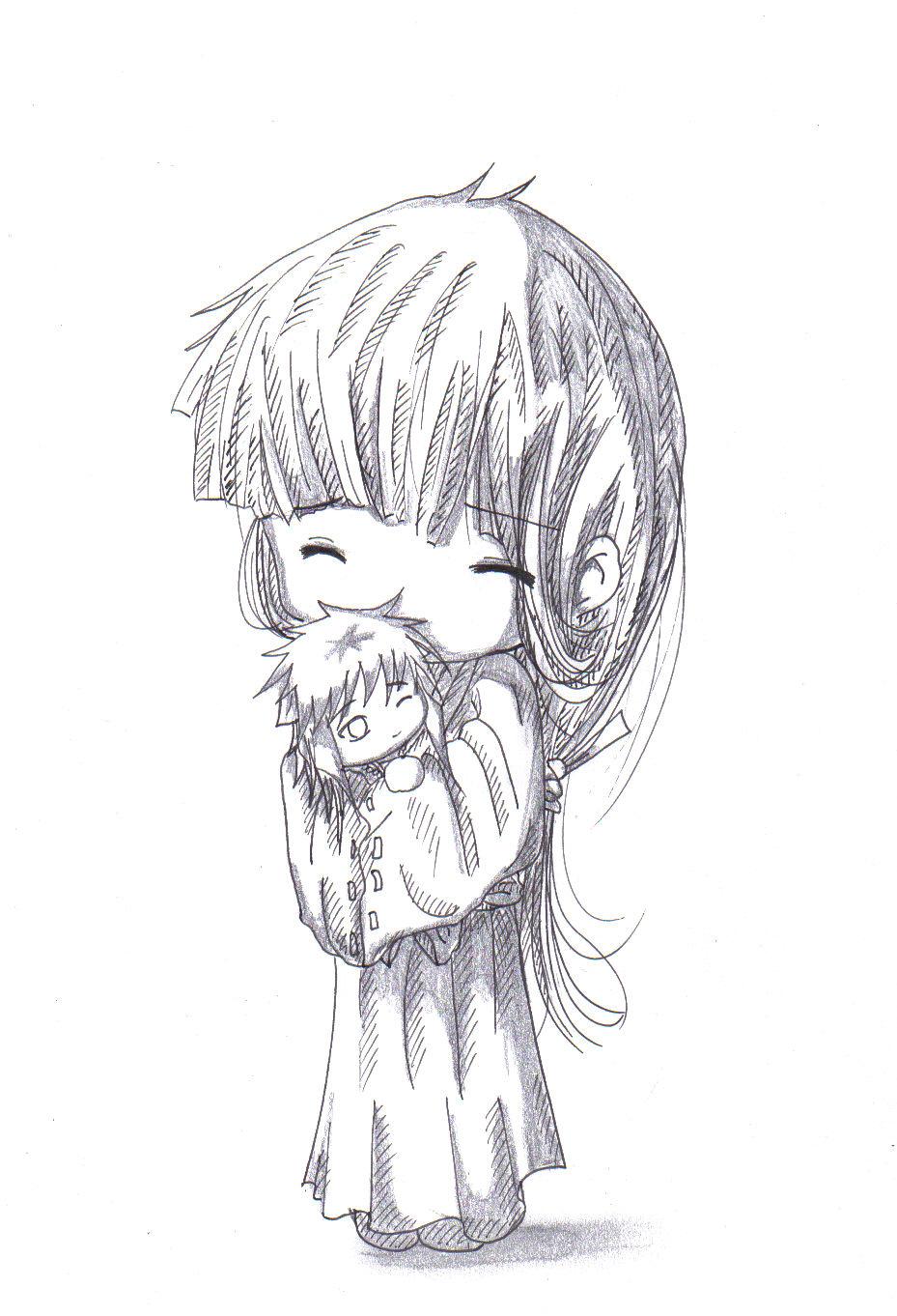 Hug me - Kikyo and InuYasha by LadyBlackKill