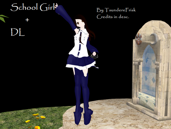 MMD School Girl + DL by TsundereFrisk