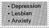 [STAMP] Depressed and gay (emo version) by Dahcorations