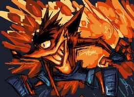 Crash Bandicoot 17th birthday by NitendoFan92