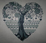 Tree-heart (Cross Stitch)