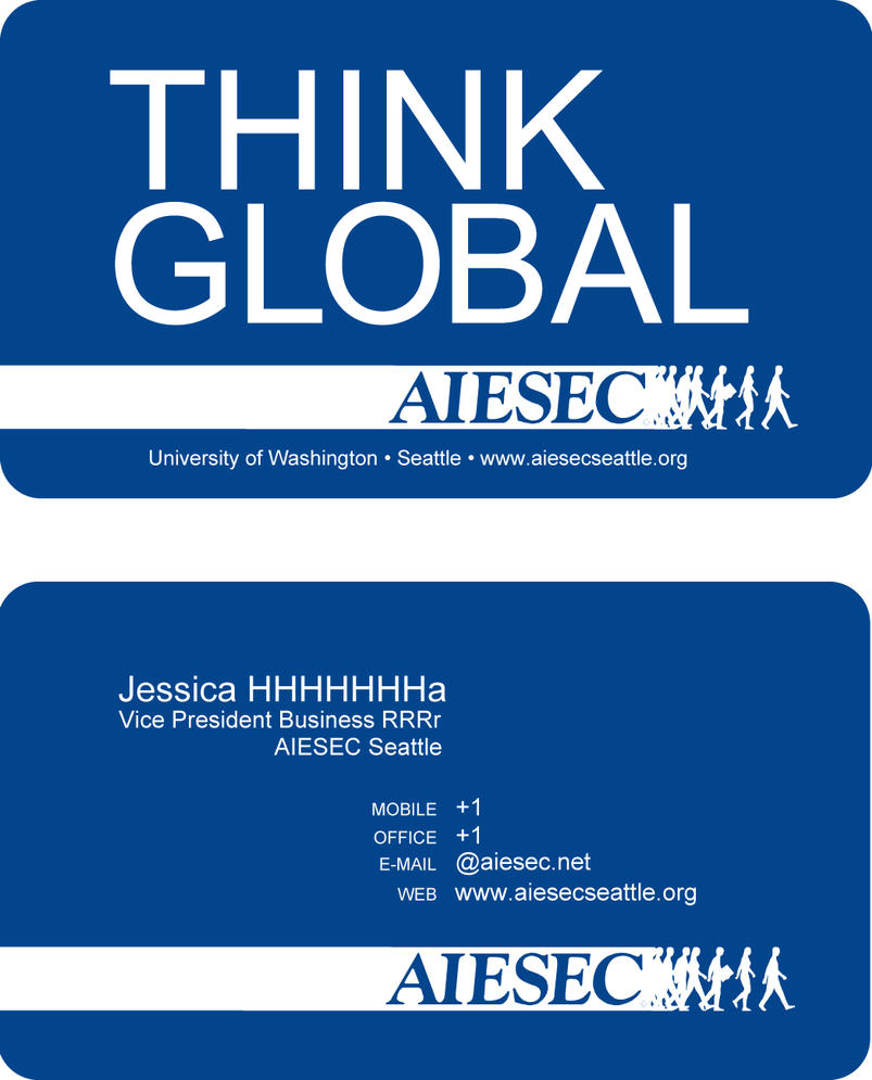 AIESEC Business Card by jeHa on DeviantArt