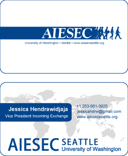 Aiesec Business Card Simple By Jeha On Deviantart