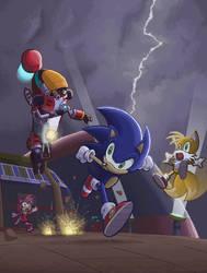 Sonic vs Gamma by E-122-Psi