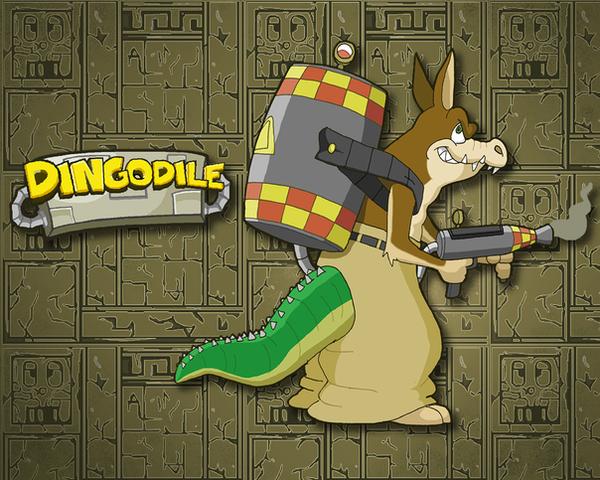 Dingodile Wallpaper by E-122-Psi