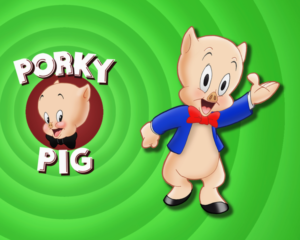 Porky Pig Wallpaper by E-122-Psi