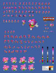 Amy in Sonic 1 Sprite Sheet