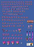 Amy In Sonic 2 Sprite Sheet