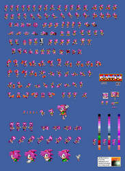 Amy In Sonic 2 Sprite Sheet by E-122-Psi
