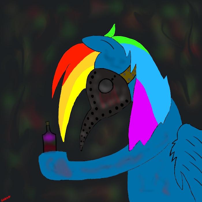 Rainbow Dash Plague by ganondorfone