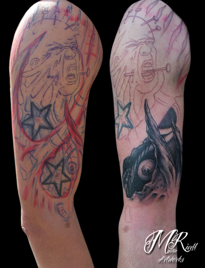 tattoo coverup freehand by anderstattoo on deviantart. Black Bedroom Furniture Sets. Home Design Ideas