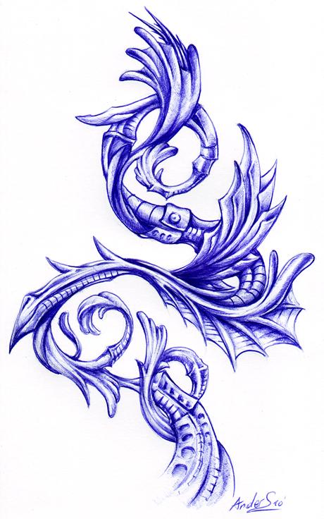 Тату биомеханика - Фото, Эскизы Значение татуировки