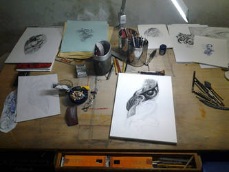 Late Night Drawing by Anderstattoo