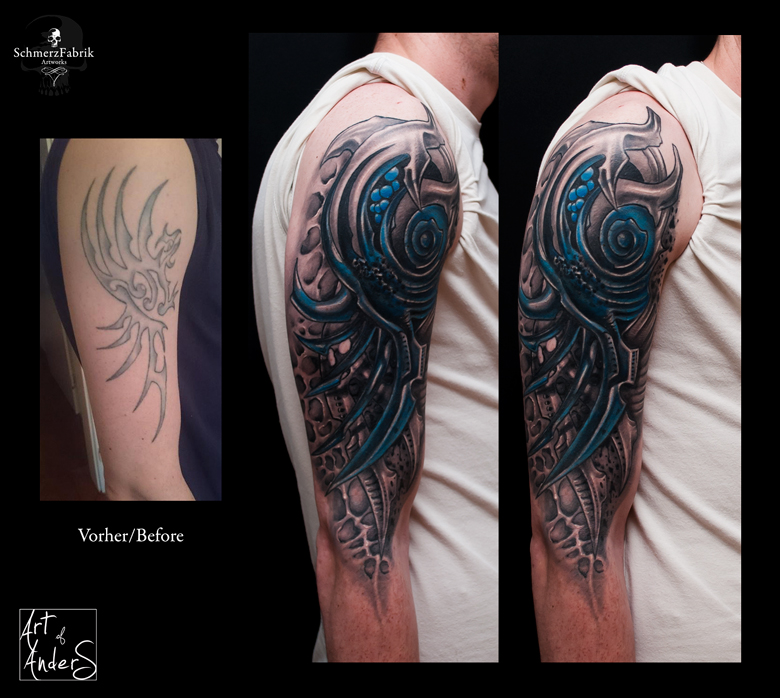 Freehand Coverup by Anderstattoo