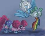 Pinkie Pie and Rainbowdash