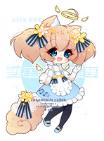[CLOSED] 4-DAY AUCTION Valyrabbits Collab Aria by whitepaperrabbits
