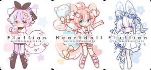 [CLOSED] Guest Artist FLUFFIAN + HEARTDOLL Auction