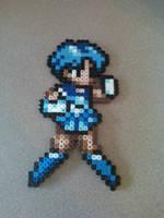 Perler Bead Sailor Mercury by craftemu