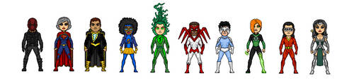 Micro Heroes Young Justice Next Generation B-Team by Mandrakz