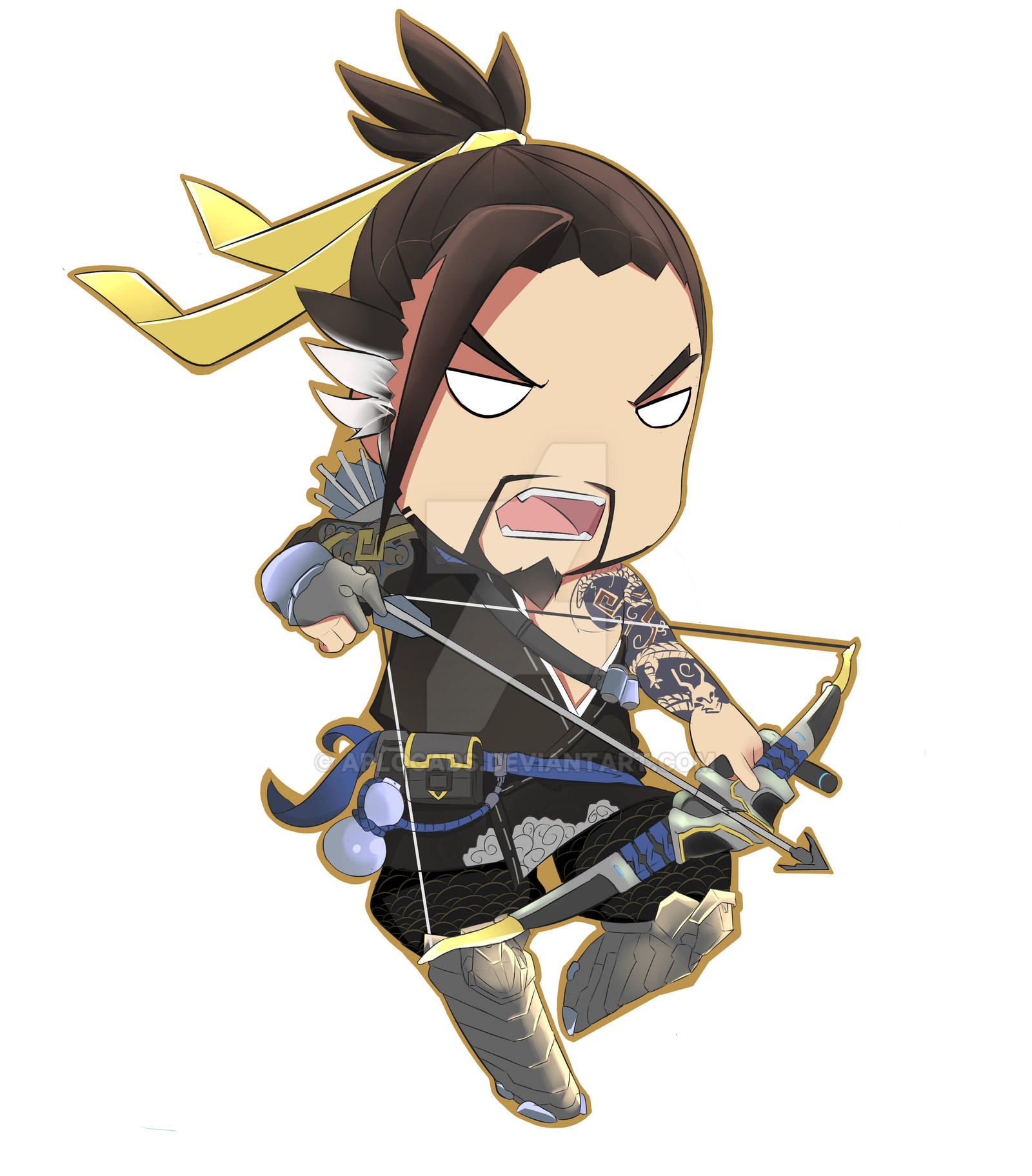 Hanzo Wallpaper: Hanzo Overwatch Chibi By Aplocads On DeviantArt