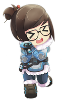 Mei Overwatch Chibi (fixed free) by aplocads