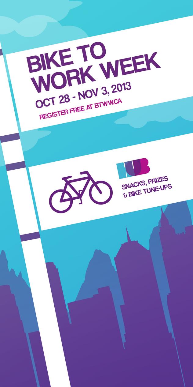 Bike To Work Week Poster By Shesta713 On Deviantart