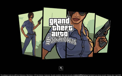 GTA SA Copwoman wallpaper wide by redfill
