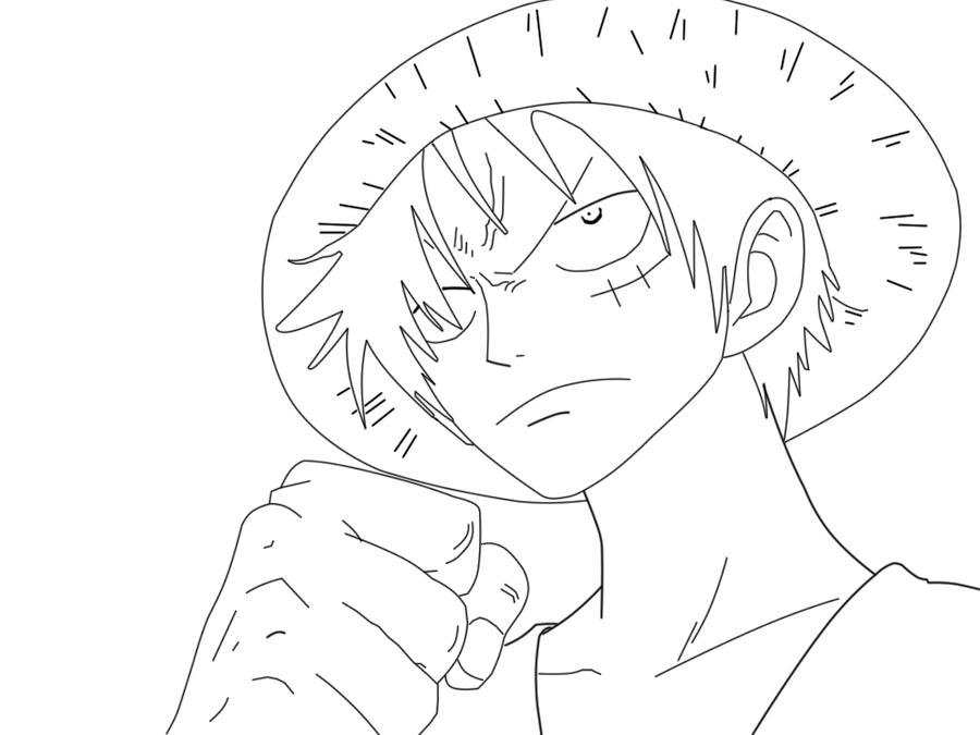 Luffy Lineart : Luffy lineart by abdonaruto on deviantart