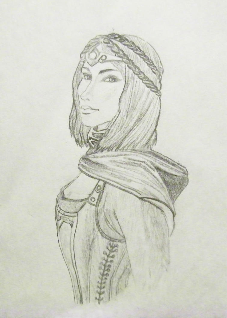 Serana Sketch by TheSleepyRabbit