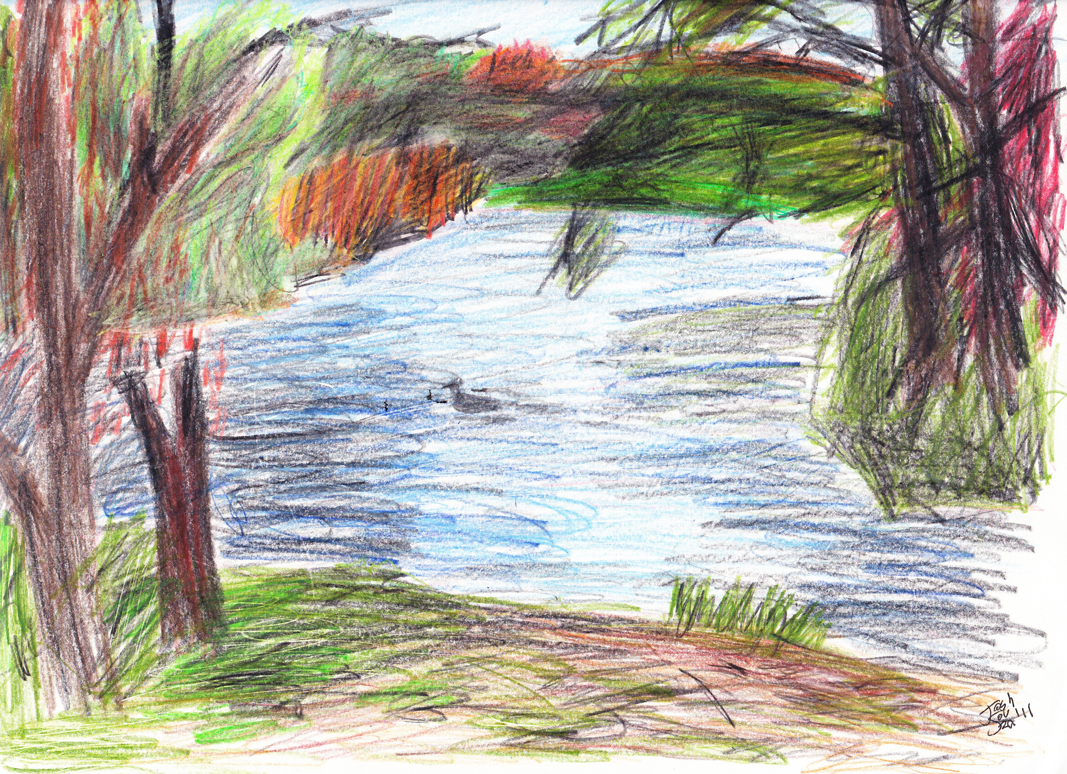 How to draw with colored pencils - First Colored Pencil Drawing By Joshsouza On Deviantart