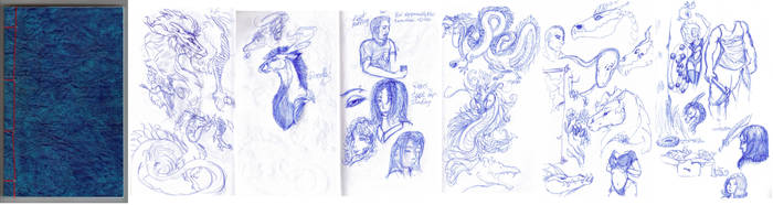 doodlebook spread by FlyingFire