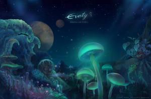 Mushroom Valley by Evaty