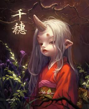 chiho bakemono girl